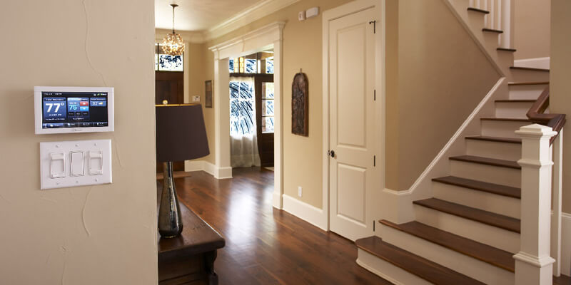 clean and airy hallway of a home with good indoor air quality