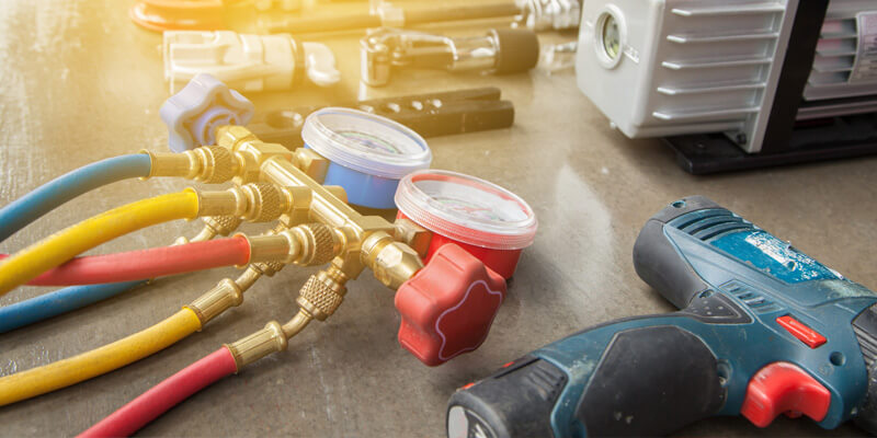 tools for heat pump and maintenance